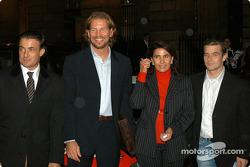 Press conference at the Automobile Club de France in Paris: Jean Alesi, Fredrik Johnsson, Michèle Mouton and Sébastien Loeb