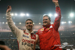 Sébastien Loeb and Michael Schumacher