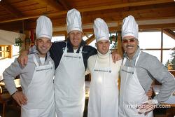 Jorg Muller, Hans Stuck, Dirk Muller and Dr Mario Theissen