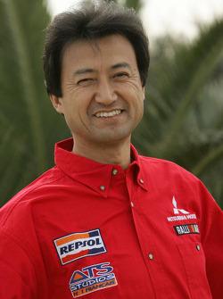 Mitsubishi Motors Repsol ATS Studios Team presentation: Isao Torii, President of the Motor Sports division for Mitsubishi Motors