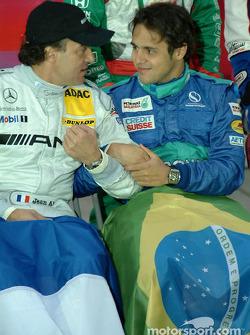 Jean Alesi and Felipe Massa