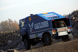 Team de Rooy presentation: Jan de Rooy, Dany Colebunders and Clim Smulders test the rally truck DAF CF75 FAV4x4