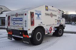 Loprais Tatra Puma Evo III T815 truck leaves Czech Republic