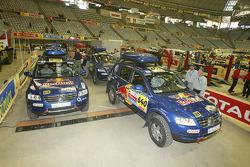 Volkswagen Motorsport assistance vehicles