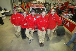 Nissan Dessoude team: William Alcaraz, Isabelle Patissier, Paul Belmondo, Jacky Dubois and Grégoire de Mévius