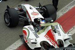 Jenson Button returns to pitlane