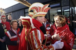 Jarno Trulli gets into Cologne Carneval spirit during Open Doors