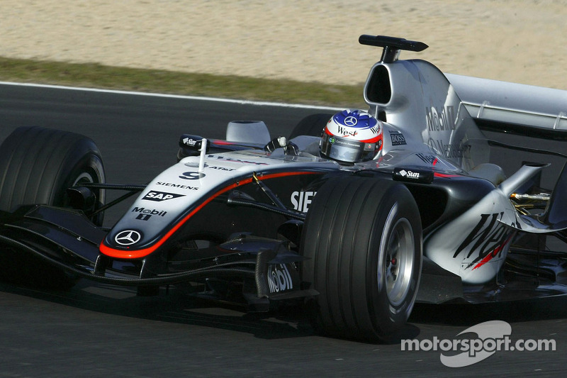 Kimi Raikkonen tests the new McLaren Mercedes MP4-20