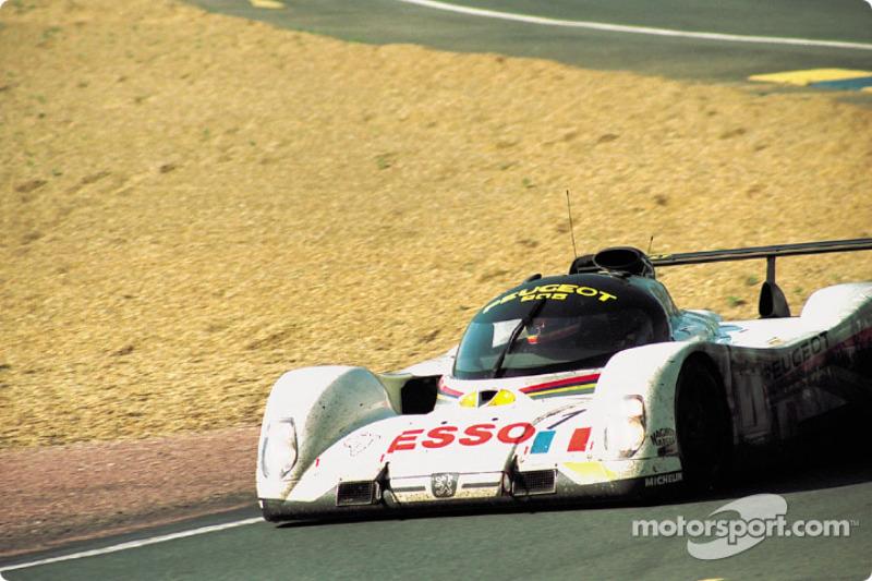 #1 Peugeot Talbot Sport Peugeot 905C: Thierry Boutsen, Yannick Dalmas, Teo Fabi