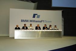 Frank Williams, Dr Mario Theissen, Mark Webber, Patrick Head, Sam Michael, Antonio Pizzonia and Nick Heidfeld