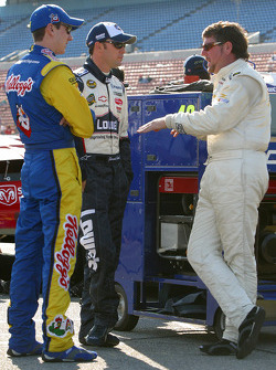 Kyle Busch, Jimmie Johnson and Randy Lajoie