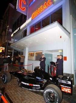 The Minardi on display