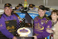 Victory lane: race winner Mark Martin celebrates