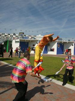 Acrobats in action