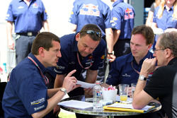 Guenther Steiner, Dave Stubbs, Christian Horner and Dr Helmut Marko
