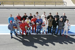 Family picture: the drivers of the 2005 GP2 championship