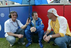Jacques Villeneuve with Cirque du Soleil's Guy Laliberté