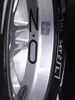 A Bridgestone tire on the Coloni Motorsport GP2 car