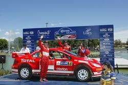Podium: third place Markko Martin and Michael Park