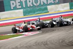 Mark Webber, Ralf Schumacher and Jarno Trulli