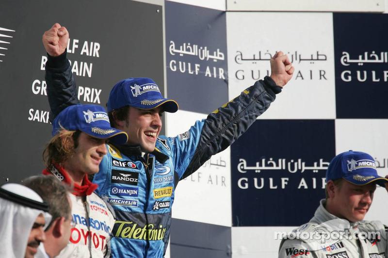 Fernando Alonso, 1º en el GP de Bahrein 2005