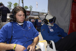 A long day for Alex Job Racing crew members