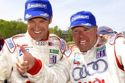 Le vainqueurs Marco Werner et JJ Lehto fêtent leur succès