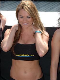 Une jeune femme représentant Sportsbook.com