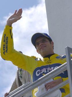 Pole winner Alex Barros celebrates