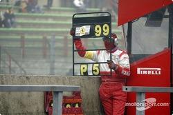 Pitboard shown to the GPC Sport Ferrari 360 Modena