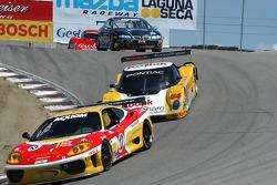 #12 JMB Racing USA Ferrari 360 Challenge: David Gooding, Tom Jermoluk, Dan Kennedy, #54 Kodak - Bell Motorsports Pontiac Doran: Terry Borcheller, Ralf Kelleners, Forest Barber