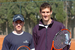 F1 Tennis Charity for the Northampton Intensive Care Unit at the Sanchez-Casal Open Tennis Academy: Mark Webber and Nick Heidfeld