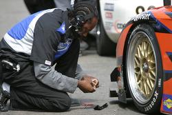 Spirit of Daytona Racing crew member at work