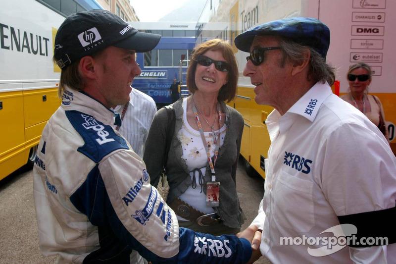 Nick Heidfeld y Sir Jackie Stewart
