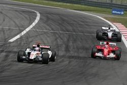 Jenson Button and Rubens Barrichello