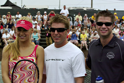 Tennis exhibition match: Anna Kournikova, Jamie McMurray and Boston Reid