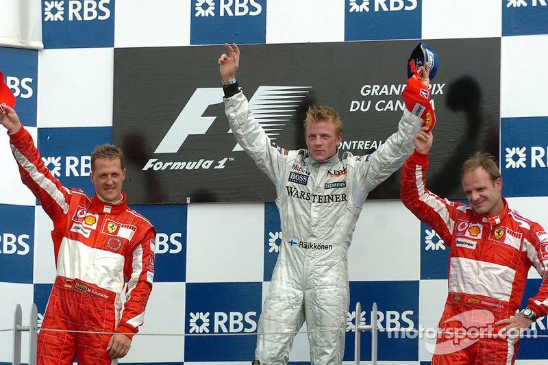 2005: 1. Кими Райкконен; 2. Михаэль Шумахер; 3. Рубенс Баррикелло