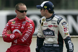 Casey Mears and Jimmie Johnson