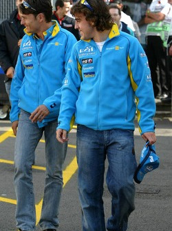 Giancarlo Fisichella and Fernando Alonso
