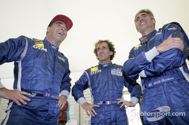 Nigel Mansell, Alain Prost y Mick Doohan