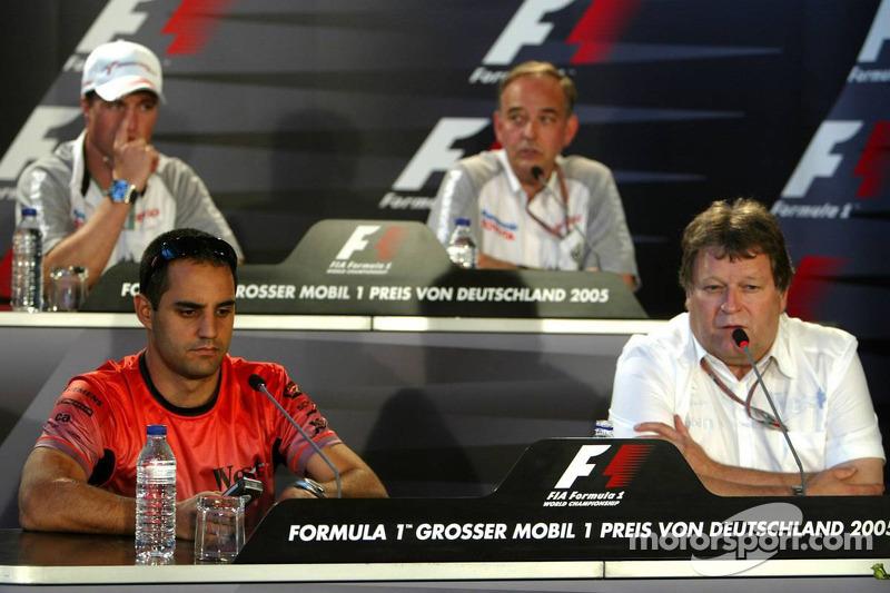 Conferencia de prensa: Juan Pablo Montoya, Norbert Haug, Ralf Schumacher y John Howett