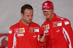 Vodafone event at Hockenheim Talhaus: Rubens Barrichello and Michael Schumacher
