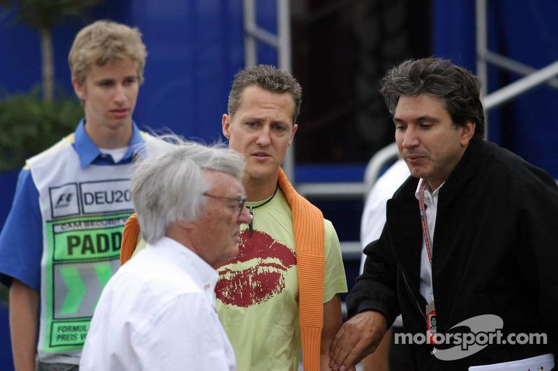 Bernie Ecclestone y Michael Schumacher