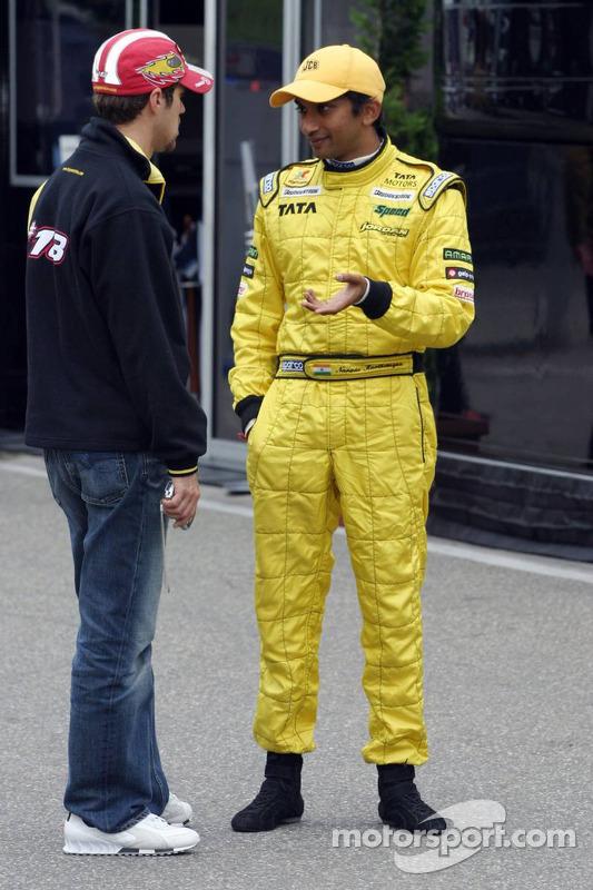 Tiago Monteiro y Narain Karthikeyan