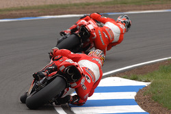 Carlos Checa and Loris Capirossi