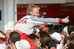 Toyota team members celebrate