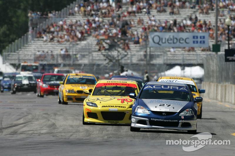 Bill Fenton Motorsports Acura RSX - S : Éric Curran, Bob Endicott; SpeedSource Mazda RX-8 : David