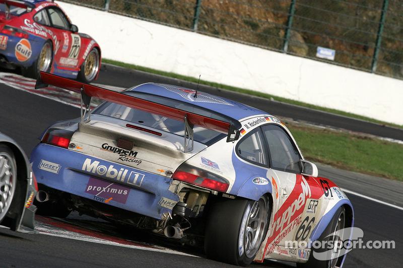 #66 Gruppe M Racing Porsche 996 GT3-RSR: Marc Lieb, Mike Rockenfeller, Lucas Luhr