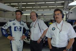 Mark Webber, Prof Burkard Goeschel and Dr Mario Theissen