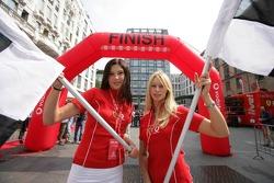 Vodafone race event in Milan: lovely hostesses